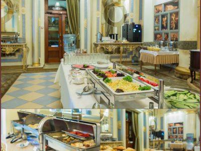 Шведский стол в ресторане «Украина»