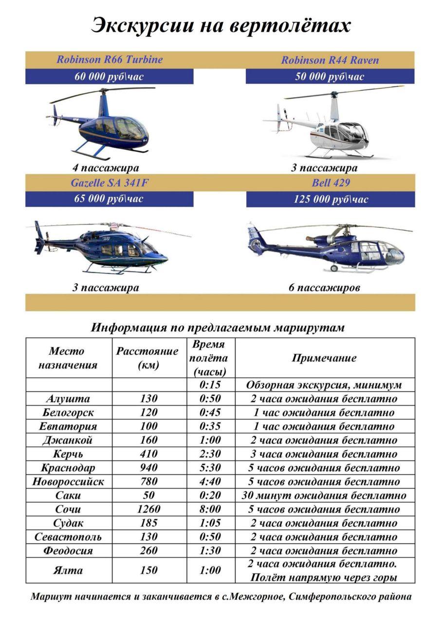 Экскурсионные туры на вертолётах